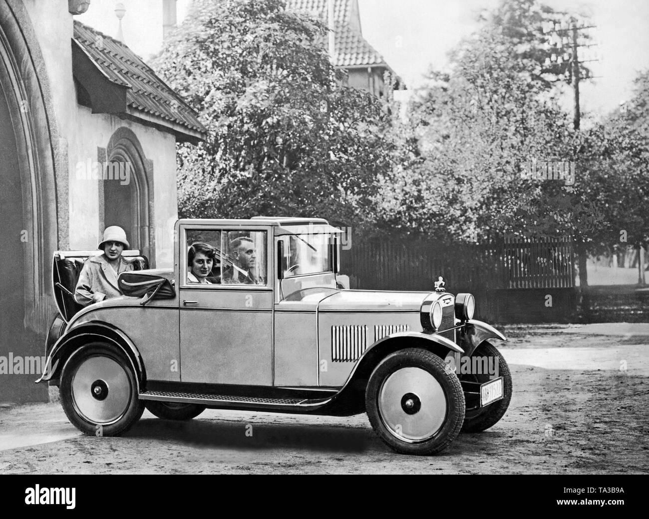Hanomag Type P 3/16 PS Cabriolet with open top and emergency seat in the trunk ('mother-in-law seat'). - Stock Image