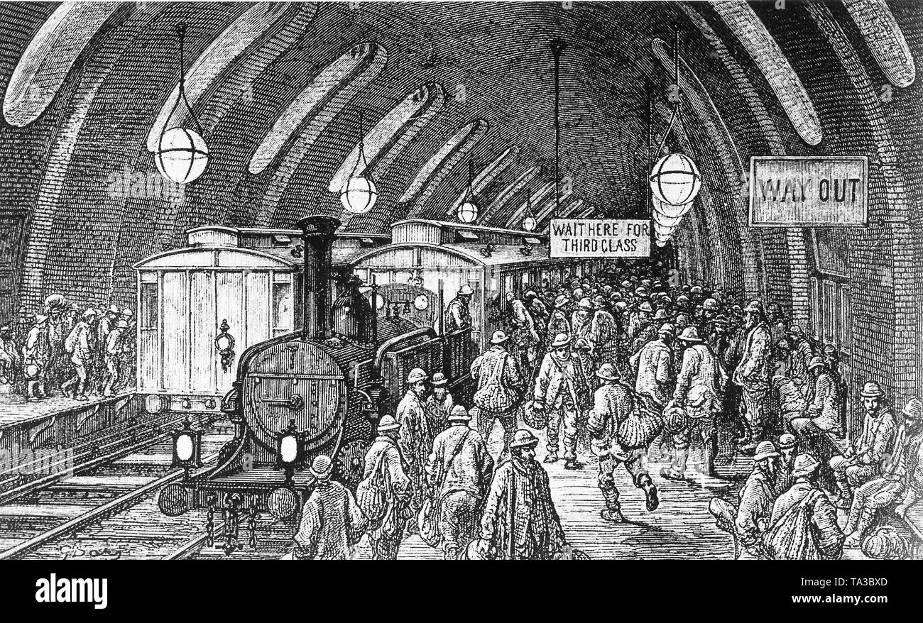 The Crowded London Underground In The Early Morning The
