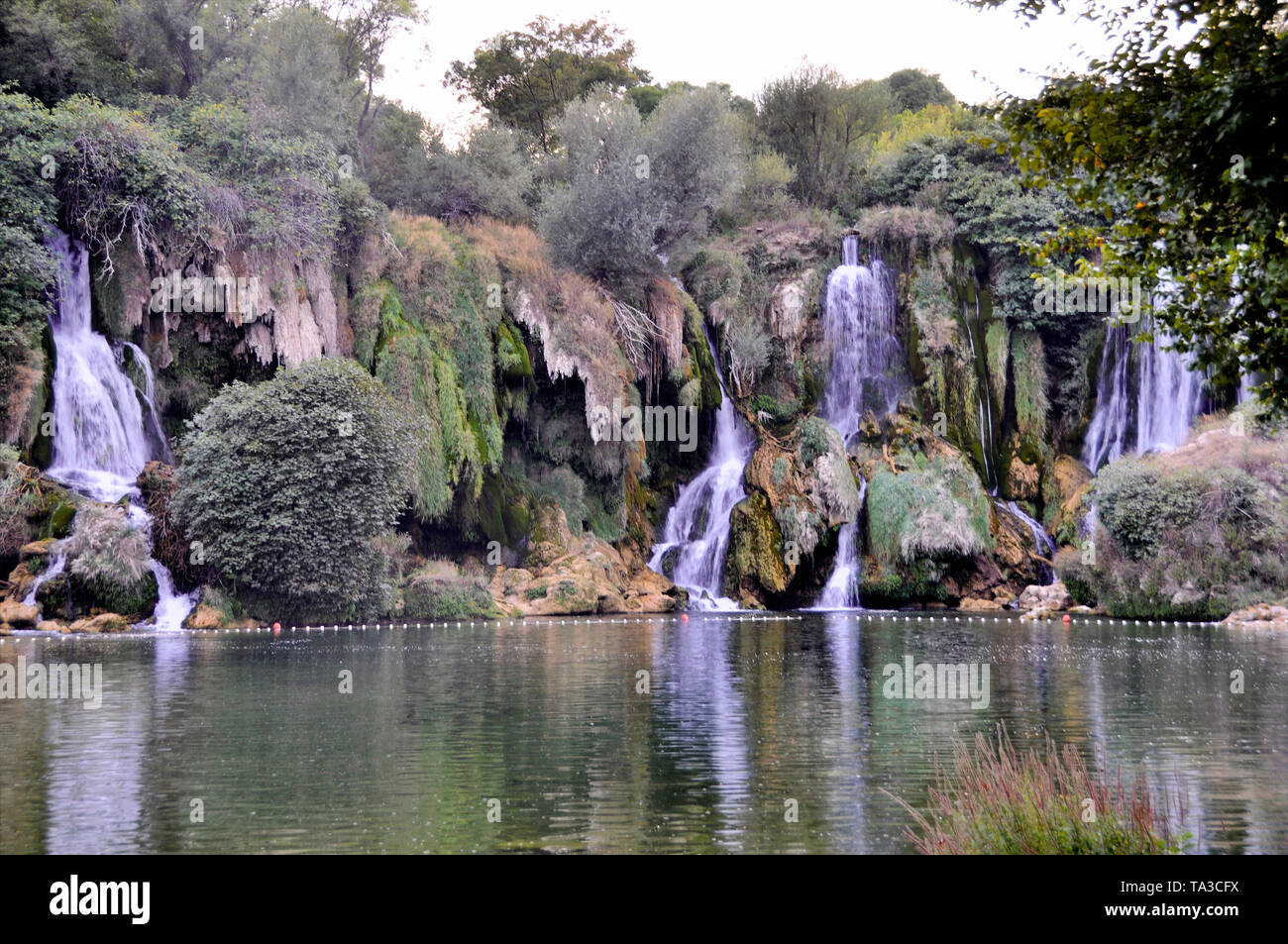 Beautiful Kravica waterfall in Bosnia and Herzegovina - popular swimming and picnic area for tourists. - Stock Image
