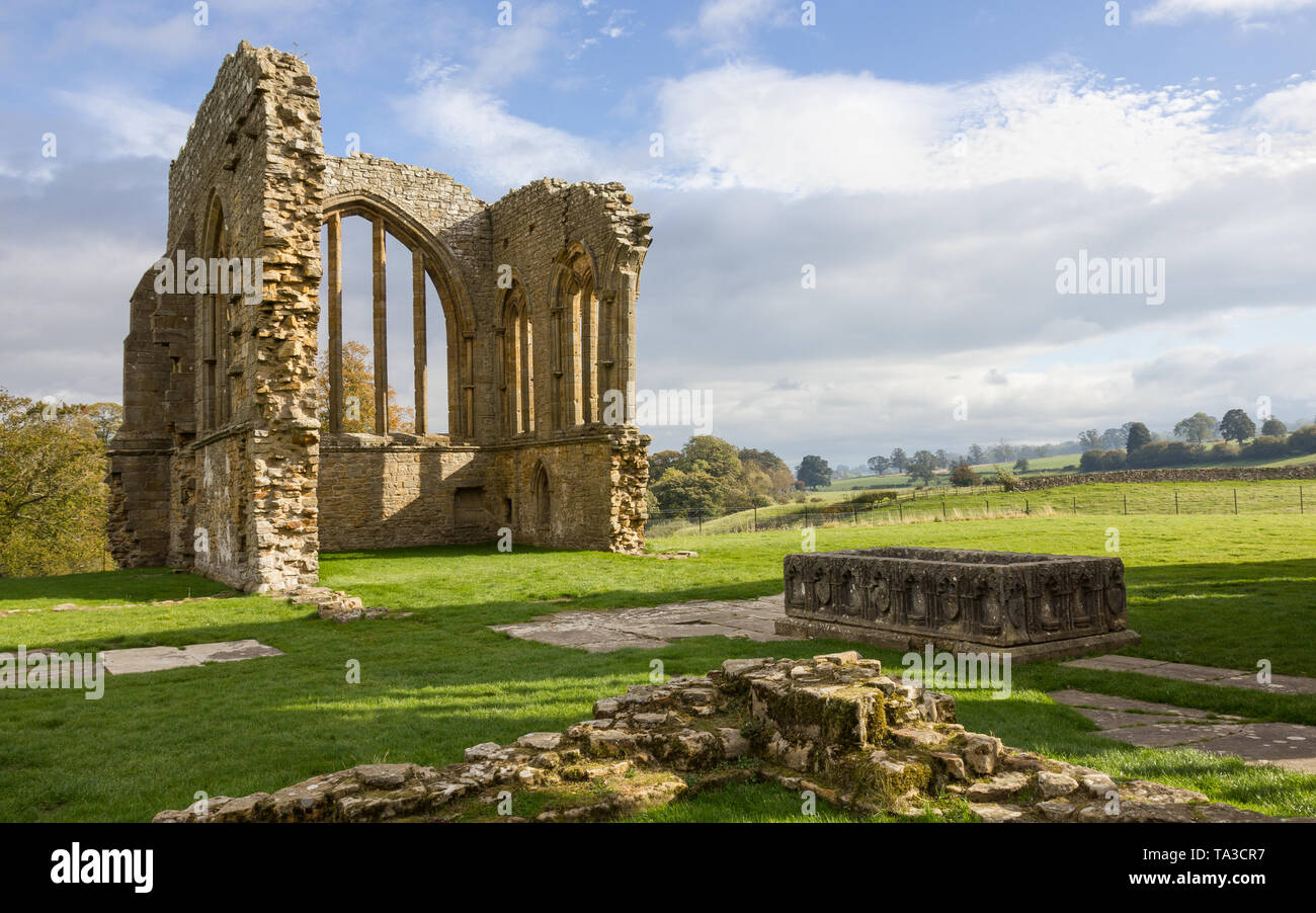 Egglestone Abbey, County Durham - Stock Image