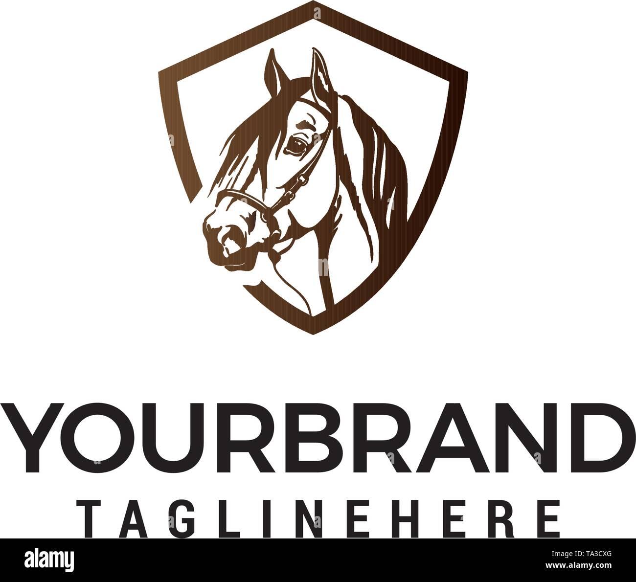 Head Horse Logo Design Concept Template Vector Stock Vector Image Art Alamy