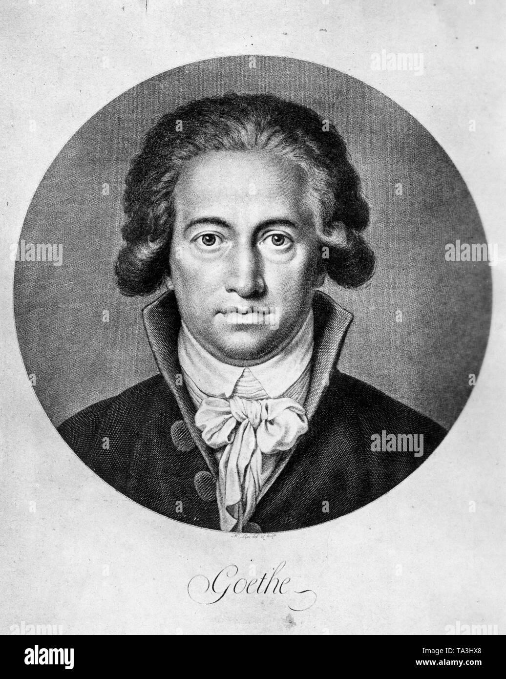 Portrait Of German Writer Johann Wolfgang Von Goethe 1791