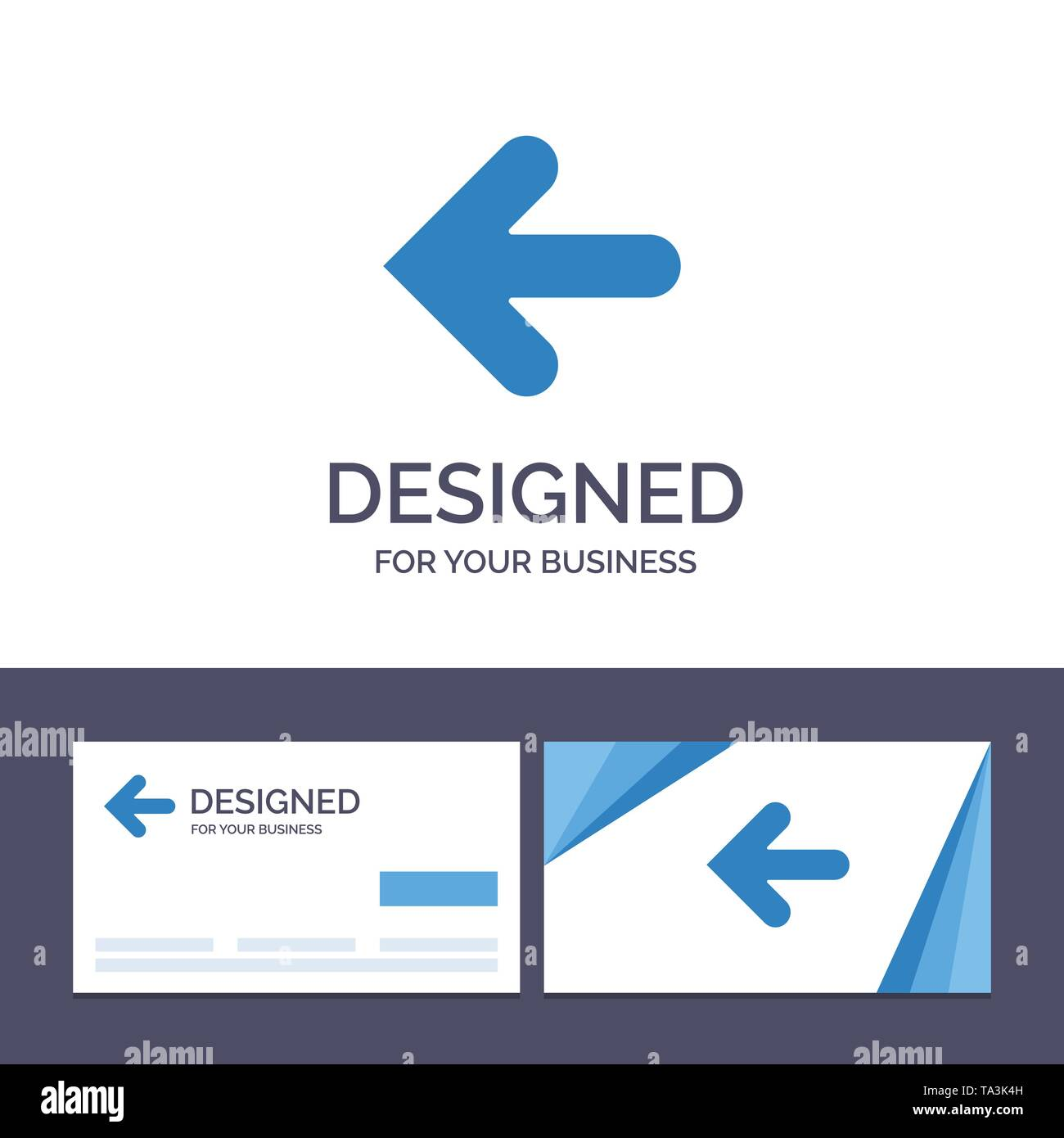 Creative Business Card and Logo template Arrow, Arrows, Back, Point Back Vector Illustration - Stock Image