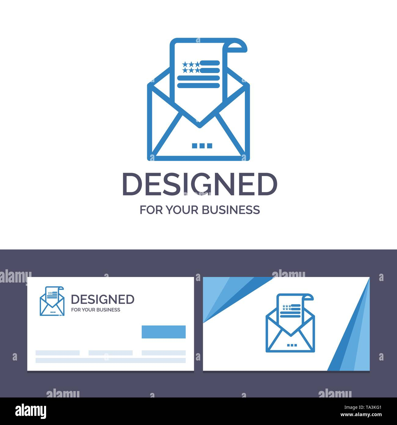 Creative Business Card and Logo template Email, Envelope, Greeting, Invitation, Mail Vector Illustration - Stock Image