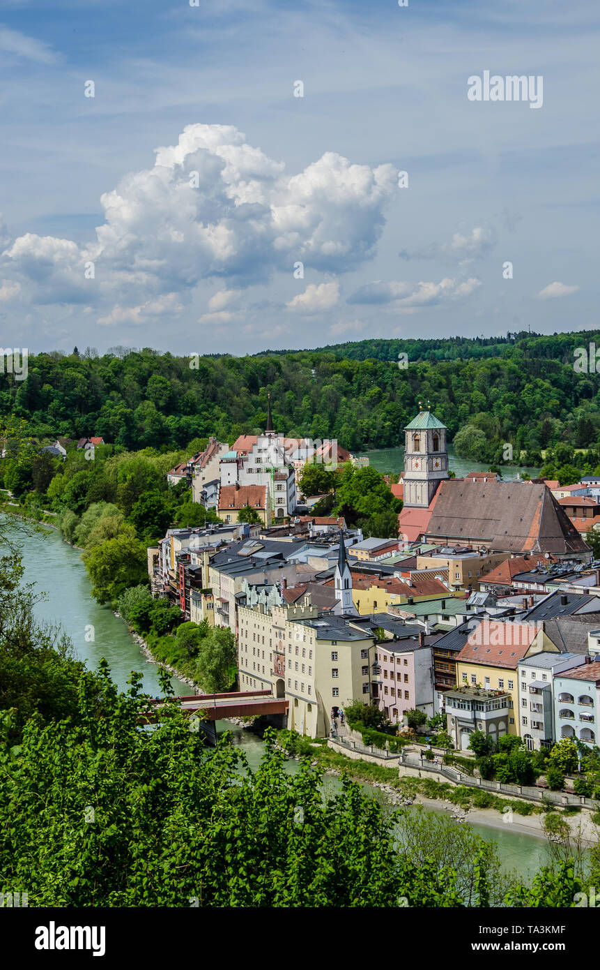 Wasserburg Am Inn Germania wasserburg river inn bavaria germany stock photos