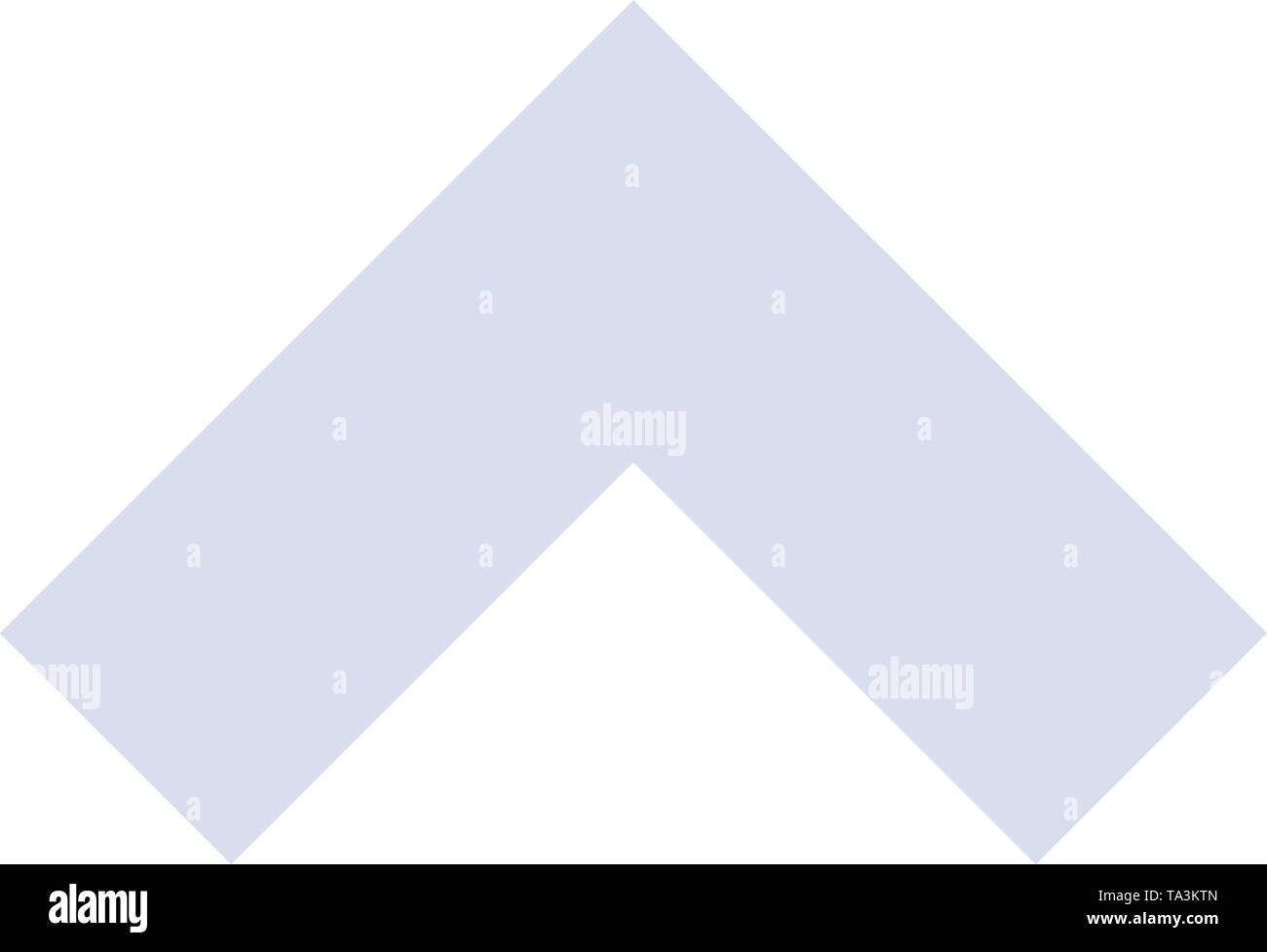 Arrow, Up, Forward  Flat Color Icon. Vector icon banner Template - Stock Image