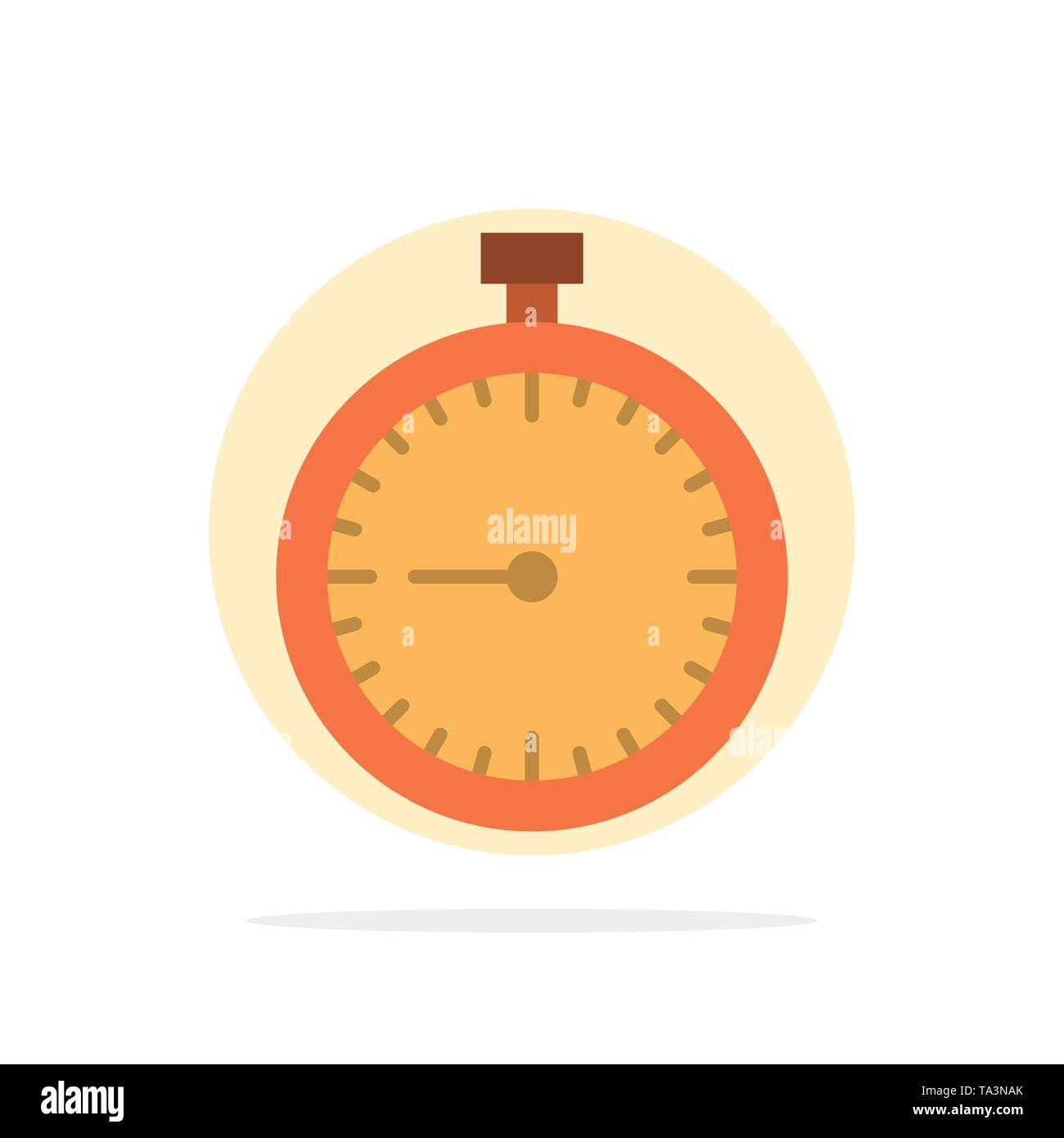 Stopwatch, Clock, Fast, Quick, Time, Timer, Watch Abstract Circle Background Flat color Icon - Stock Image