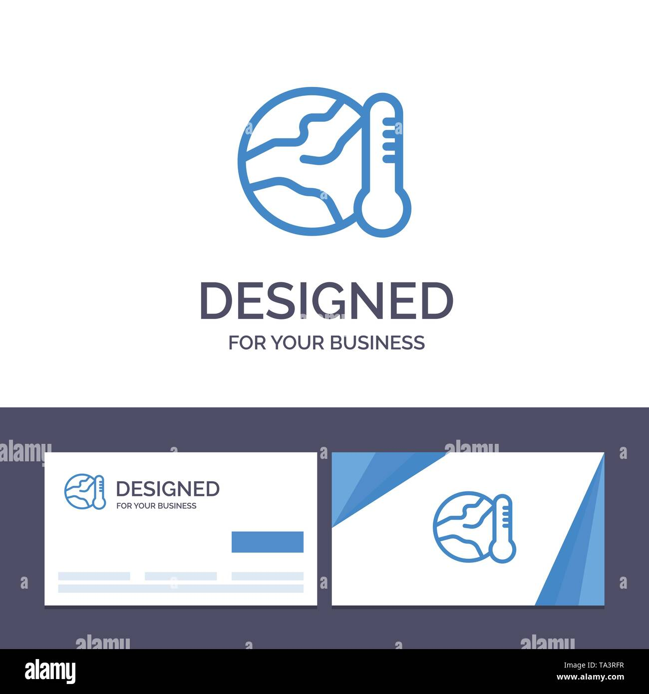 Creative Business Card and Logo template Earth, Environment, Global, Hot, Temperature Vector Illustration - Stock Image
