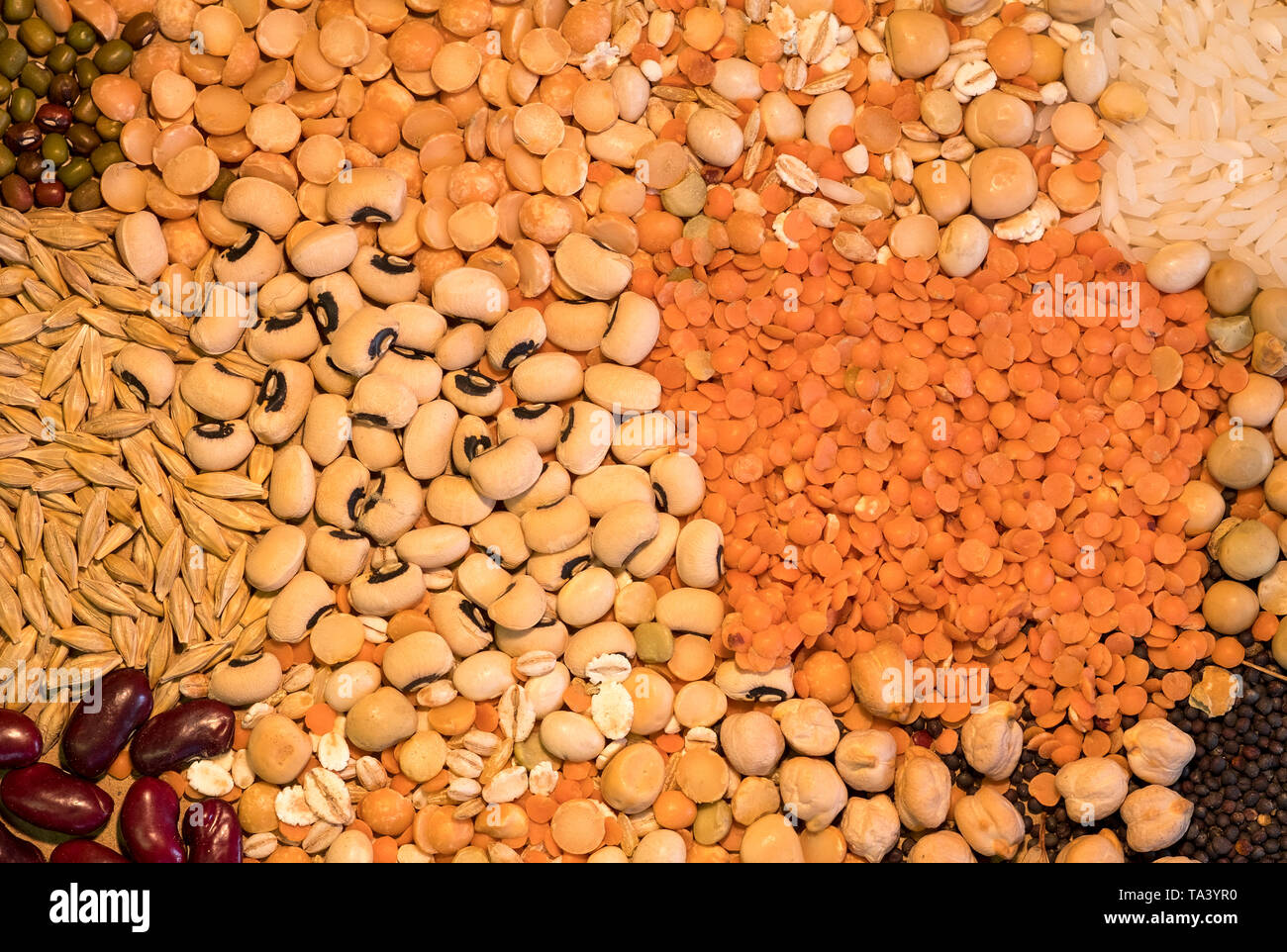 Still life dry cooking ingredients image Stock Photo