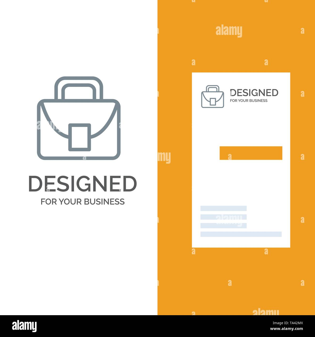 Bag, Worker, Logistic, Global Grey Logo Design and Business Card Template - Stock Image