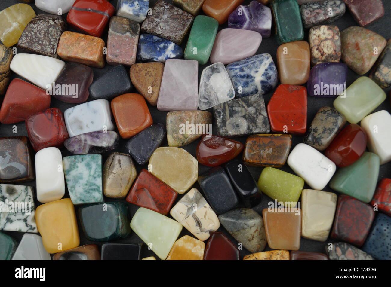 semi precious stones Stock Photo