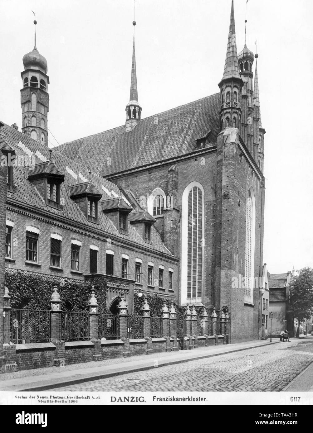 The Church of St. Trinitatis belongs to the Franciscan monastery in Gdansk, built in the 15th century. During the Second World War, the church was severely damaged and after 1945 was renovated in several steps till 2001. - Stock Image