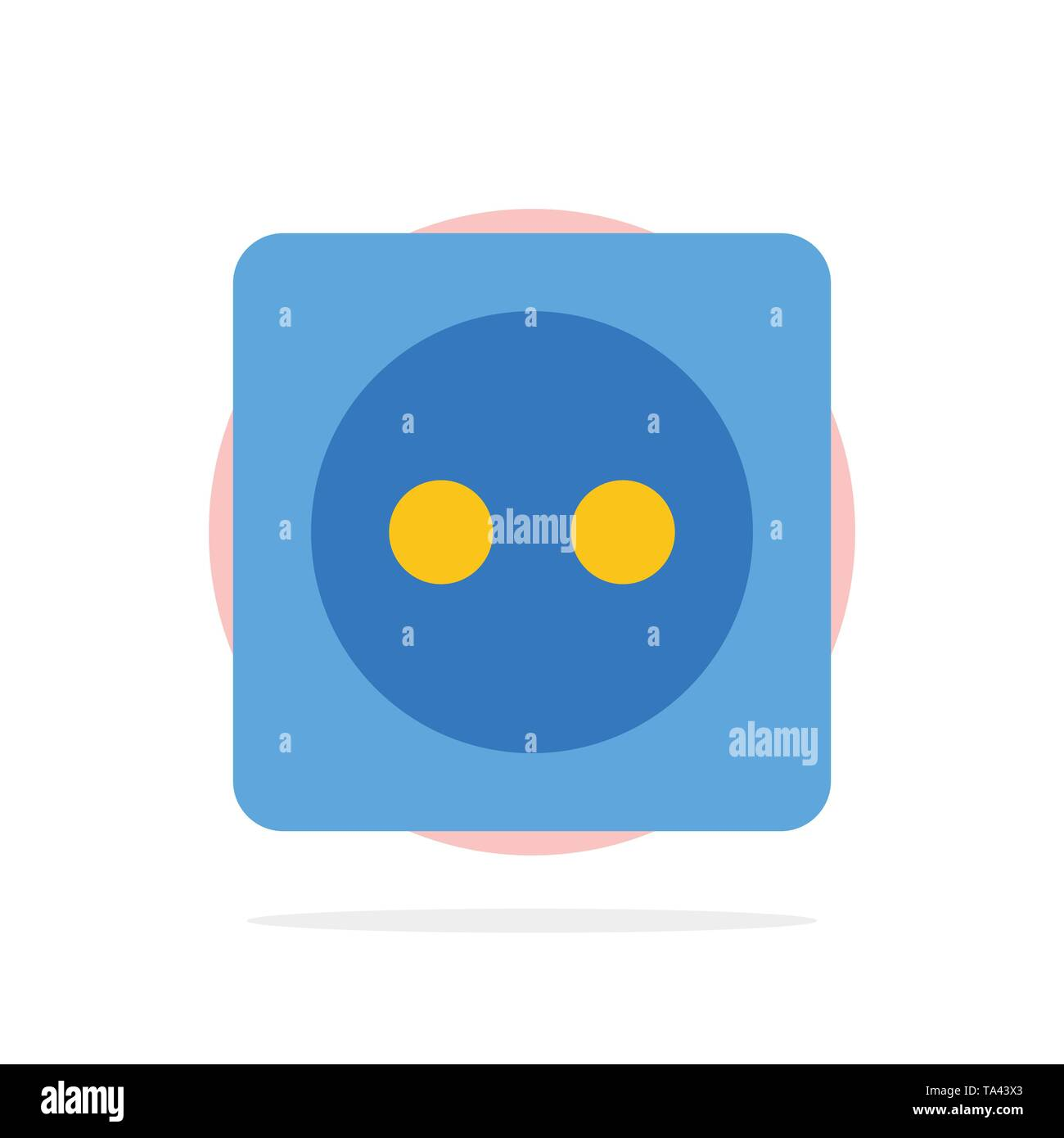 Plug Board, Eco, Energy, Power Abstract Circle Background Flat color Icon - Stock Image