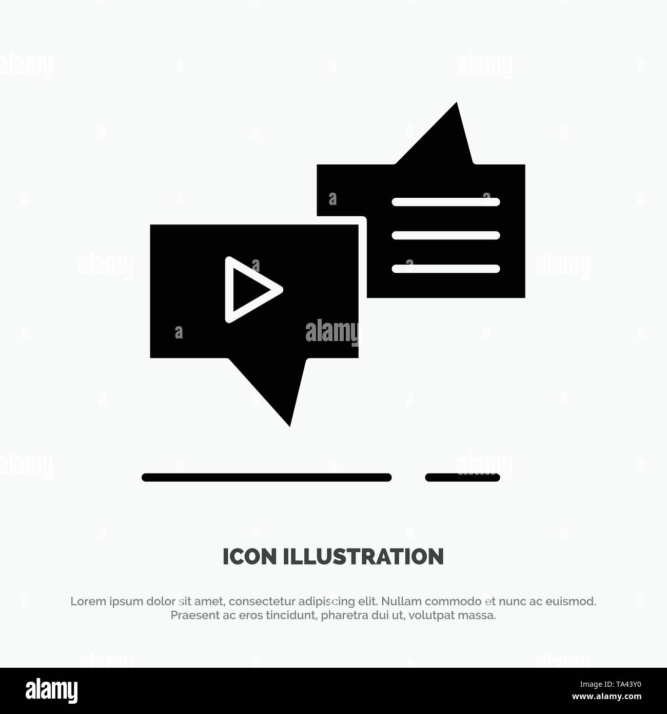 Chat, Connection, Marketing, Messaging, Speech solid Glyph Icon vector - Stock Image