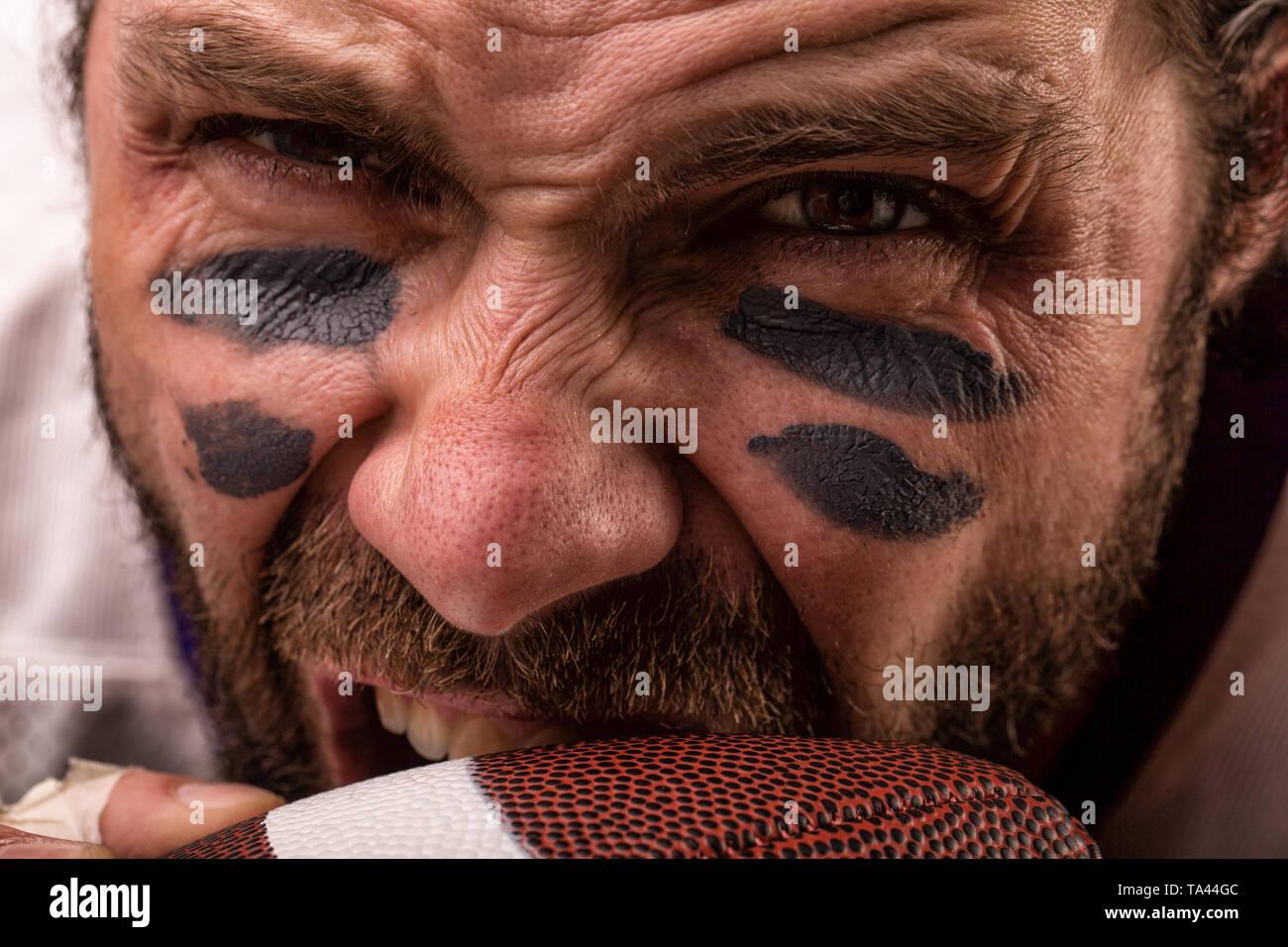Man Muscular Biting Stock Photos & Man Muscular Biting Stock