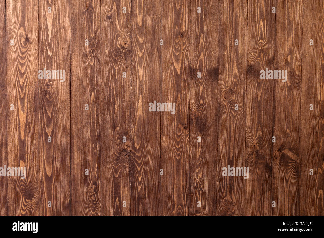 Dark old wooden table texture background top view - Stock Image
