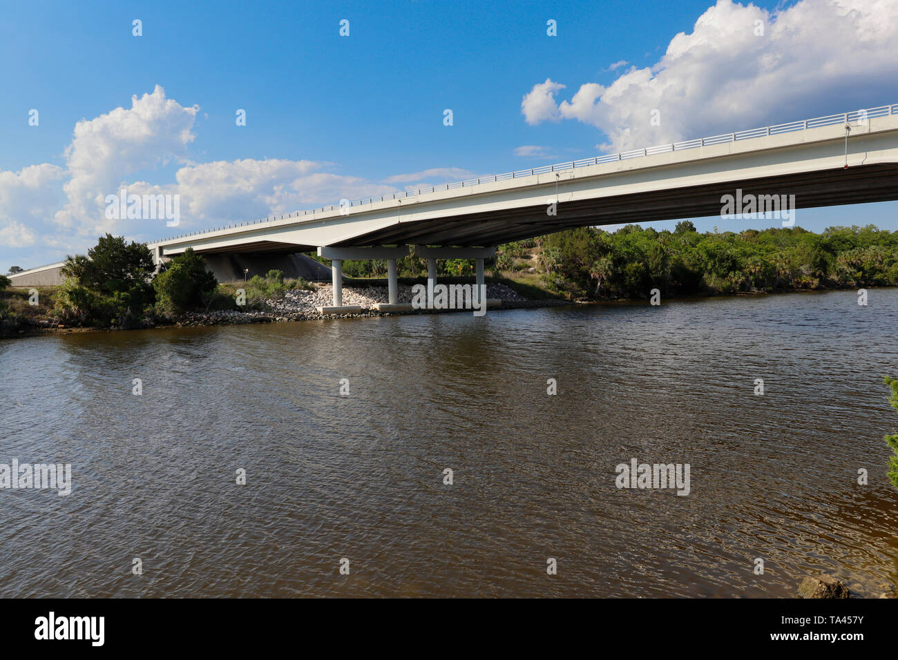 US Hwy 98 over the Cross Florida Barge Canal - Stock Image