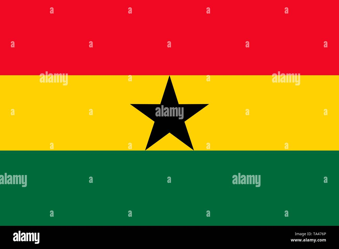 The national flag of Ghana. Vector illustration. Accra - Stock Vector
