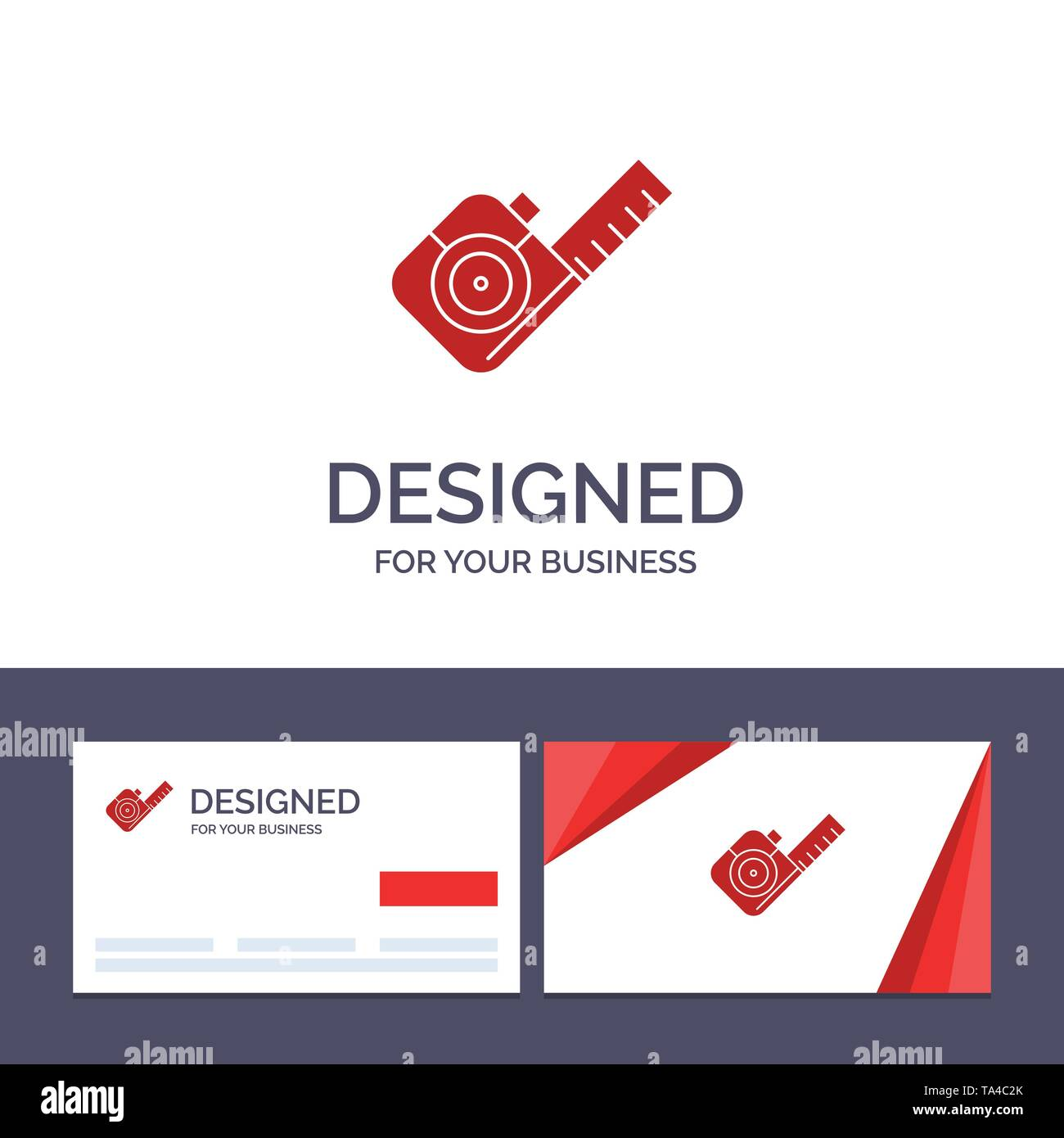 Creative Business Card and Logo template Measure, Measuring, Tape, Tool Vector Illustration - Stock Image