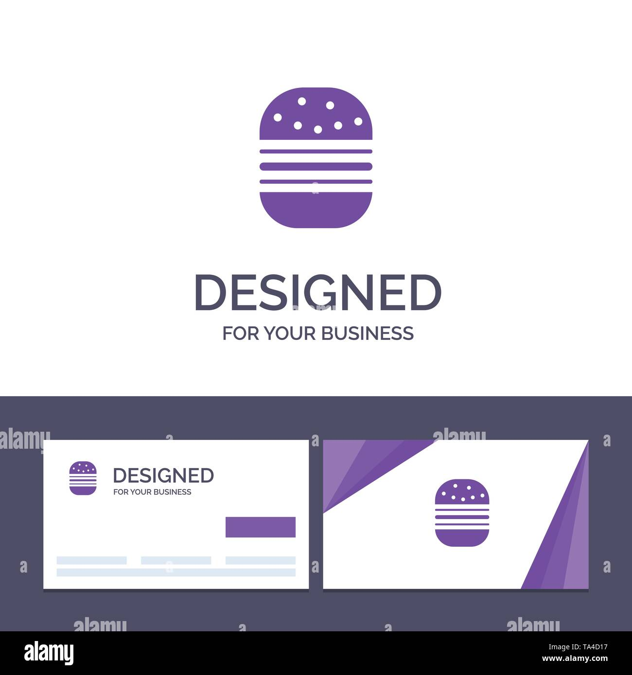 Creative Business Card and Logo template Burger, Fast food, Fast, Food Vector Illustration - Stock Image