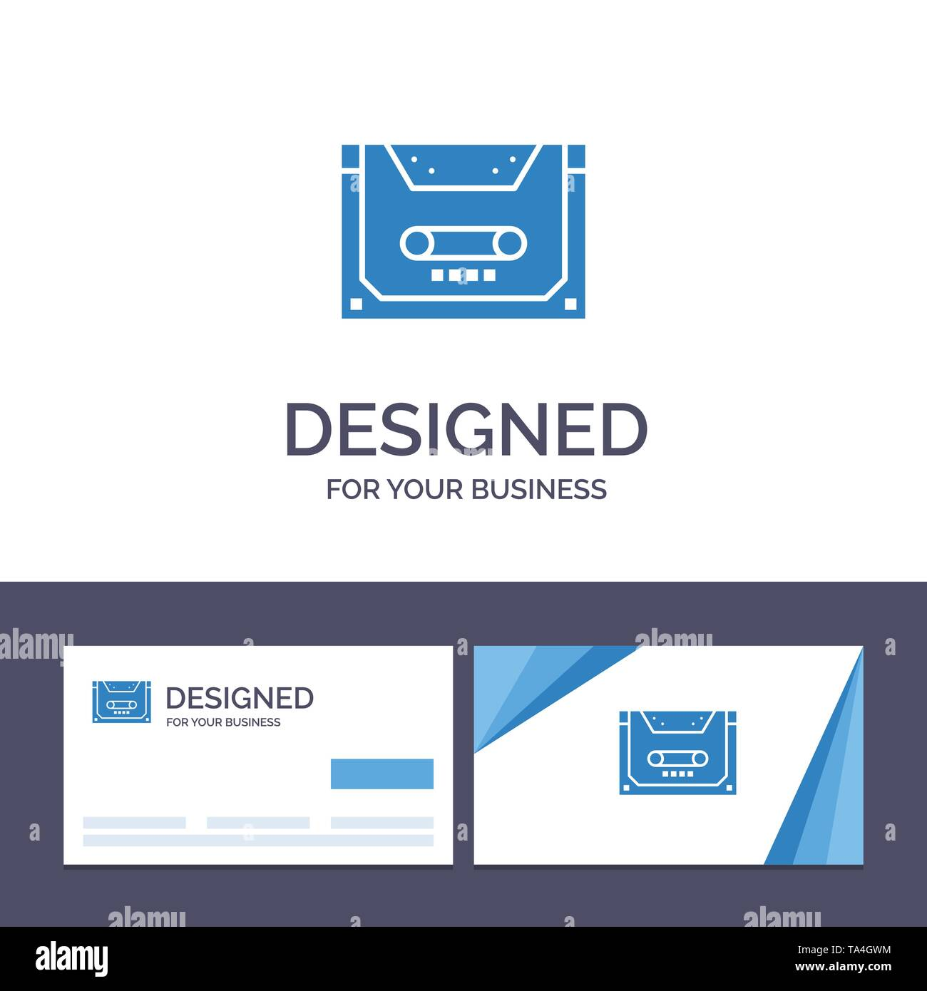 Creative Business Card and Logo template Analog, Audio, Cassette, Compact, Deck Vector Illustration - Stock Image
