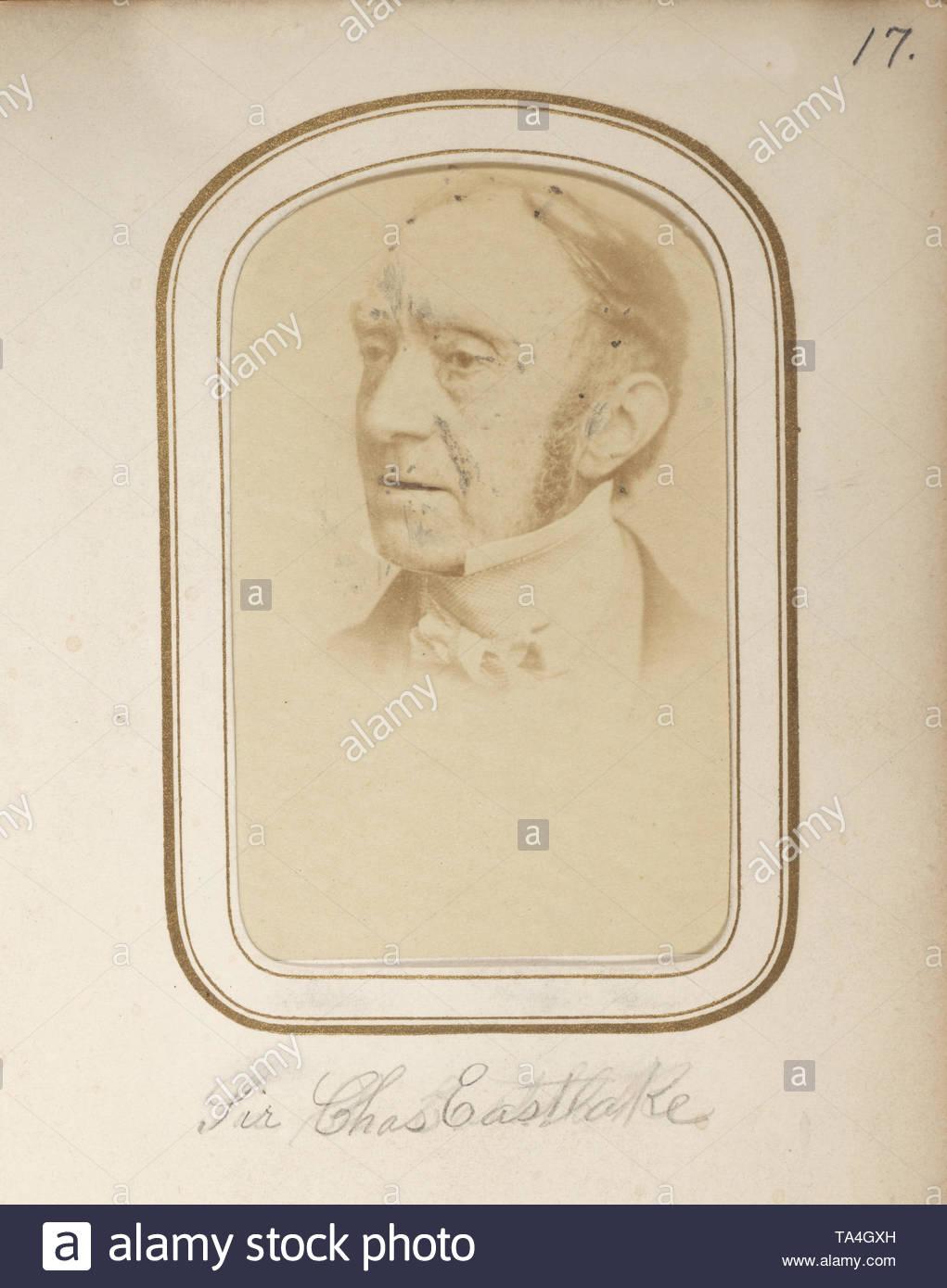 Cartes de visite portraits of nineteenth century artists [graphic]-Sir Charles Lock Eastlake (1793 – 1865) - Stock Image