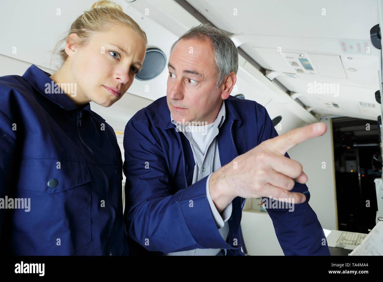 female future aircraft engineer - Stock Image