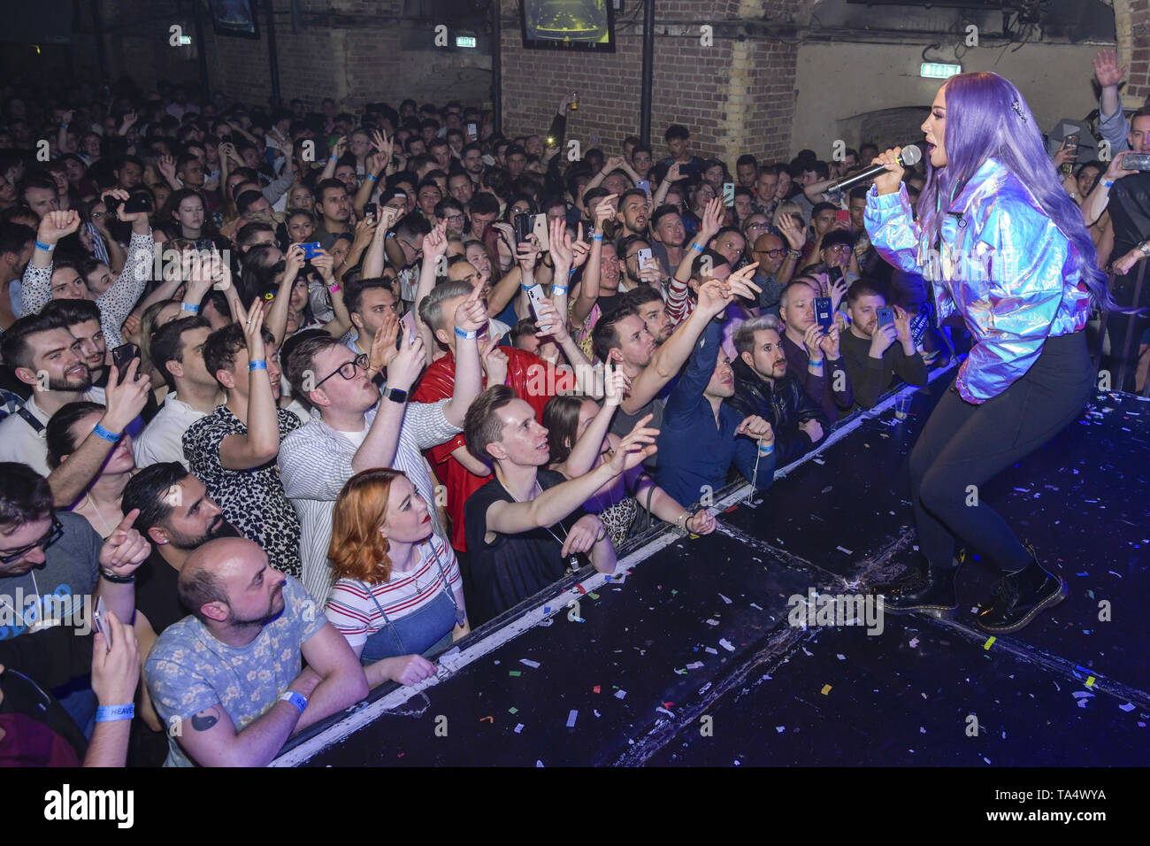 Tulisa launches her new single 'Daddy' at G-A-Y tonight. In a 30-minute set packed with hits and an NDUBZ medley, Tulisa was also joined by 'RuPaul's Drag Race' star Latrice Royale who had performed earlier that evening.  Featuring: Tulisa Where: London, United Kingdom When: 21 Apr 2019 Credit: Chris Jepson/WENN.com - Stock Image