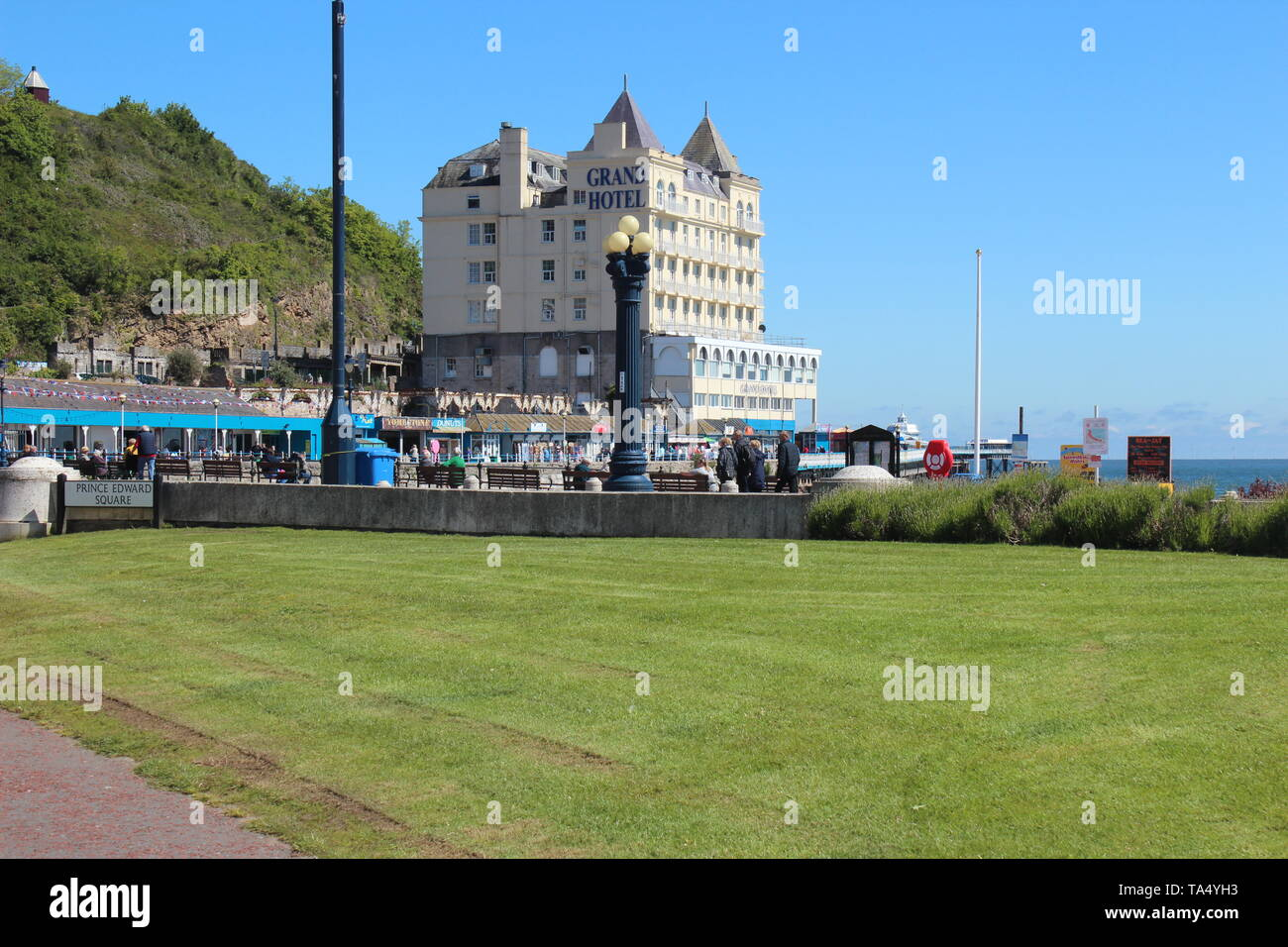 Llandudno is a coastal town in North Wales it's know for it's north shore beach and the 19th century pier - Stock Image