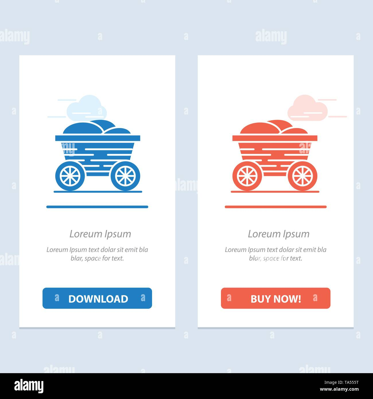 Trolley, Cart, Food, Bangladesh  Blue and Red Download and Buy Now web Widget Card Template - Stock Image