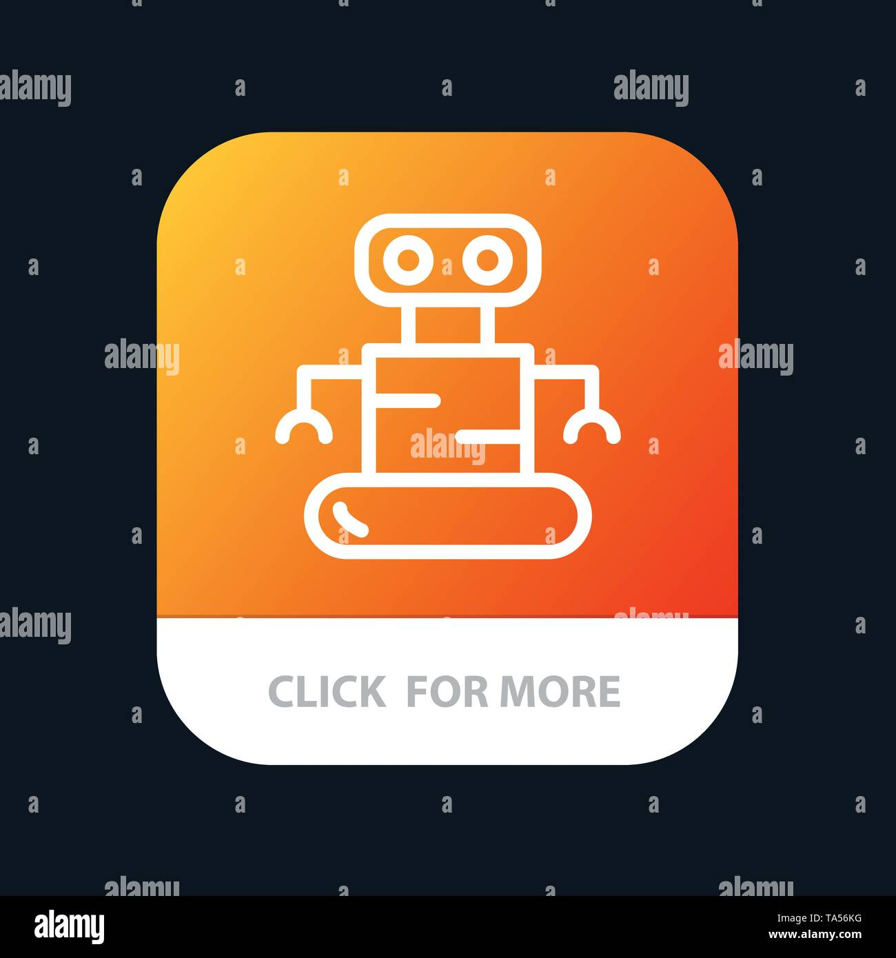 Exoskeleton, Robot, Space Mobile App Button  Android and IOS