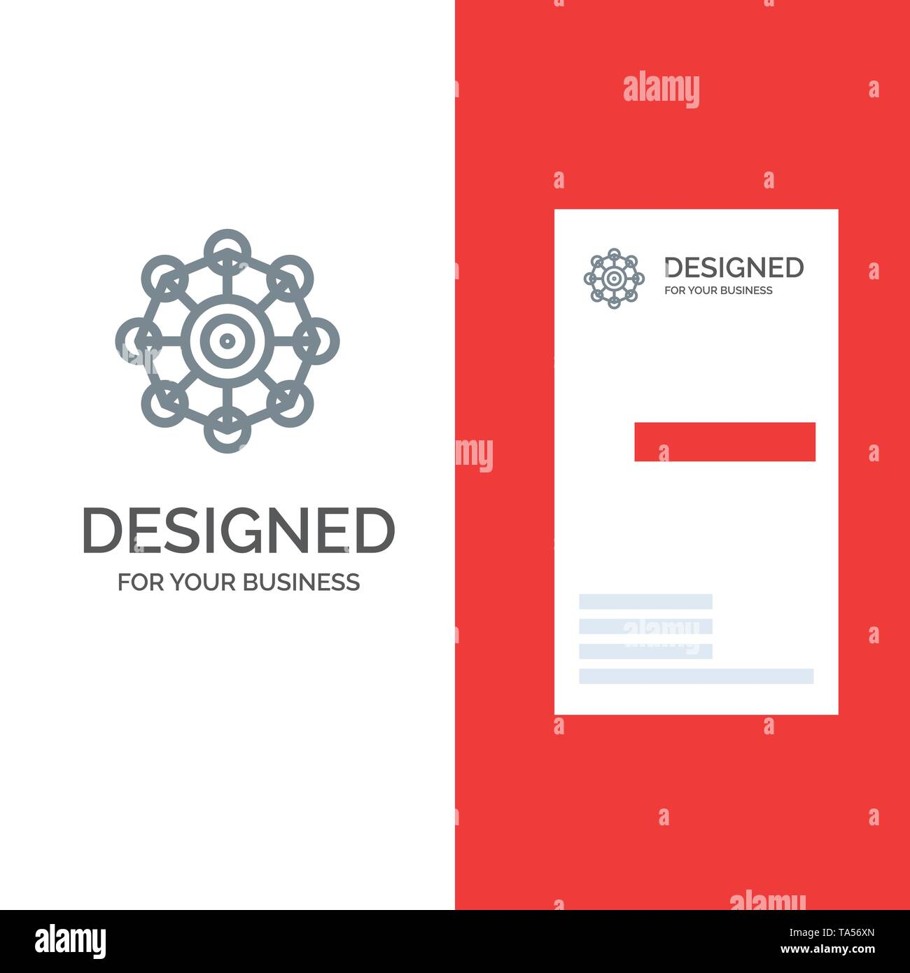 Learning, Machine, Machine Learning, Science Grey Logo Design and Business Card Template - Stock Image