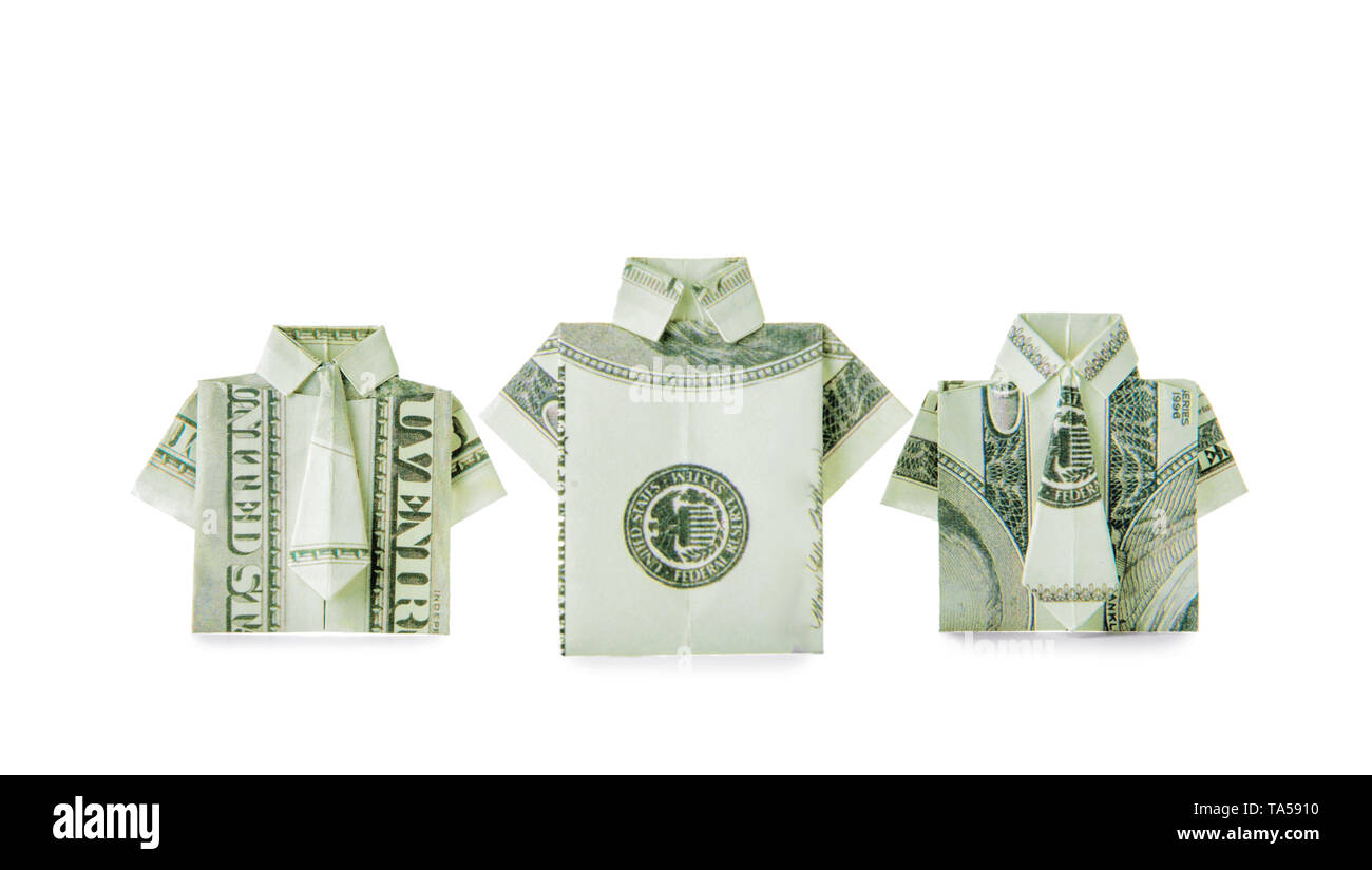 Dollar Origami Shirt & Tie (Revised) - How to make a Dollar ... | 824x1300