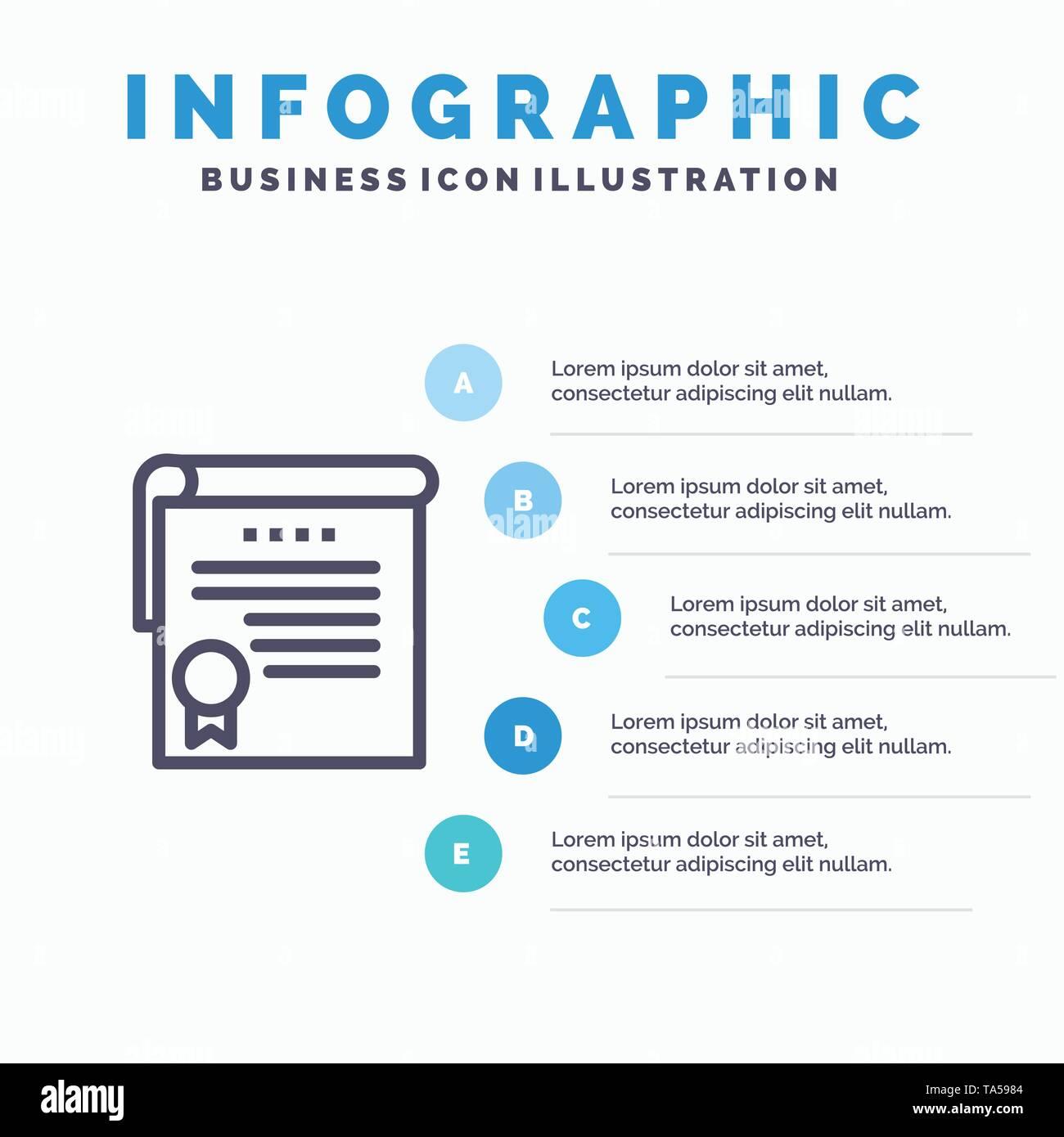 Certificate Achievement Degrees Award Blue Infographics