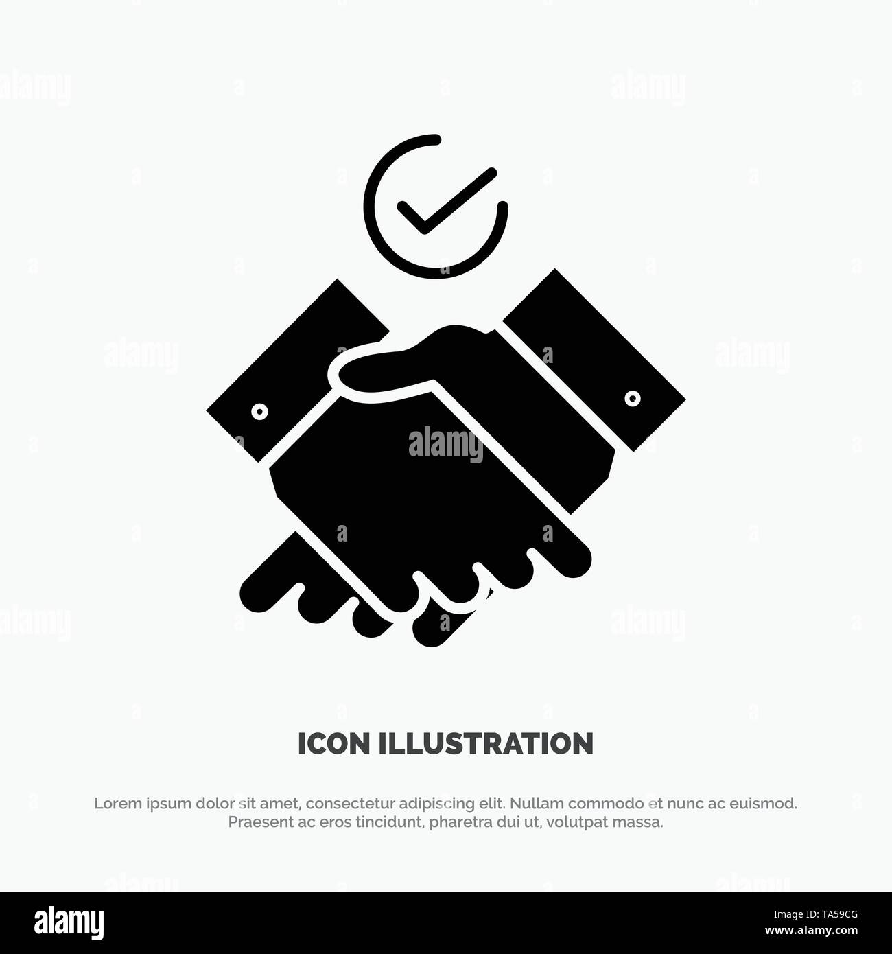 Job, Themes, Work solid Glyph Icon vector - Stock Image