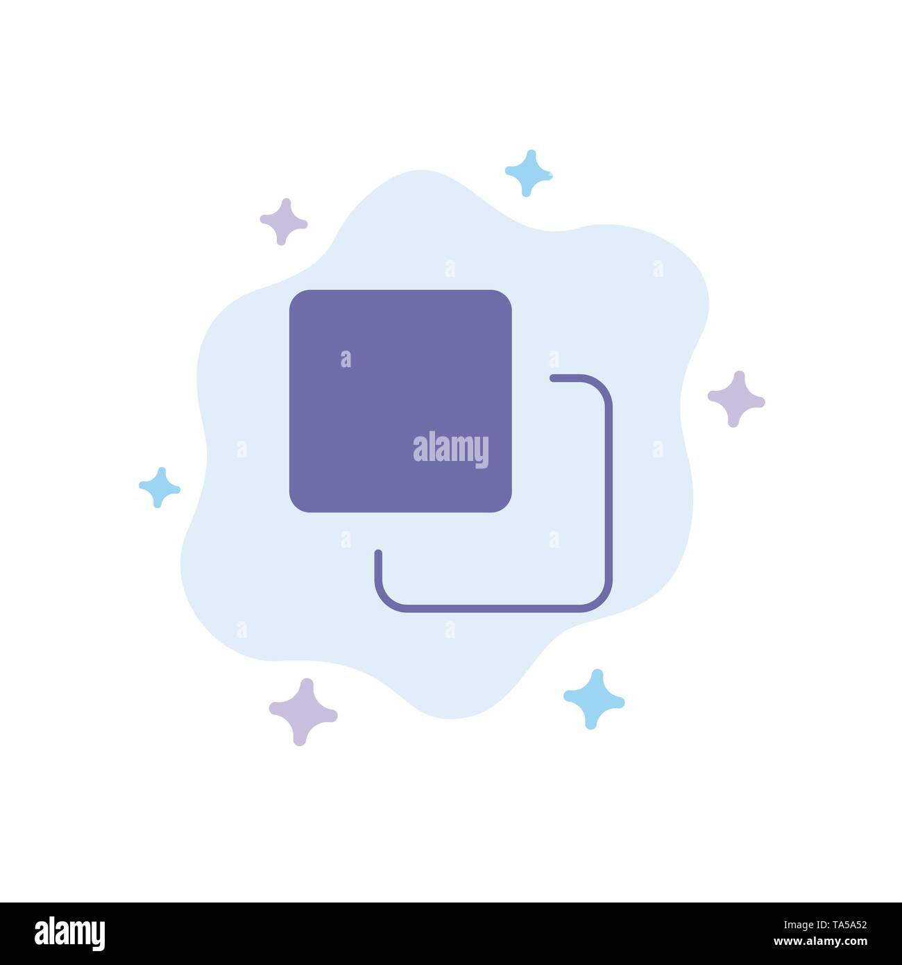 Four, Media, Quadruple, Stack Blue Icon on Abstract Cloud Background - Stock Image