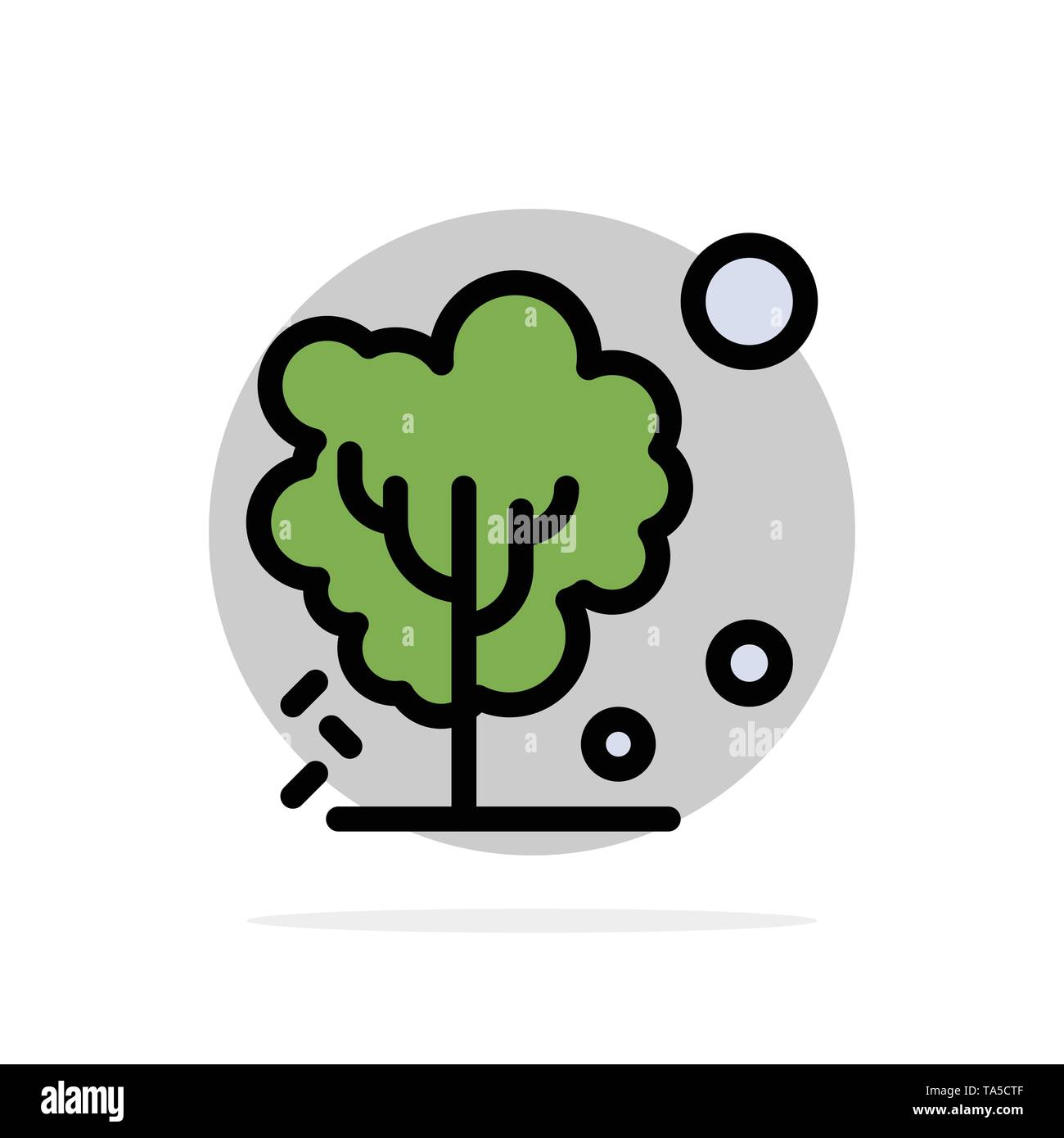 Dry, Global, Soil, Tree, Warming Abstract Circle Background Flat color Icon - Stock Image