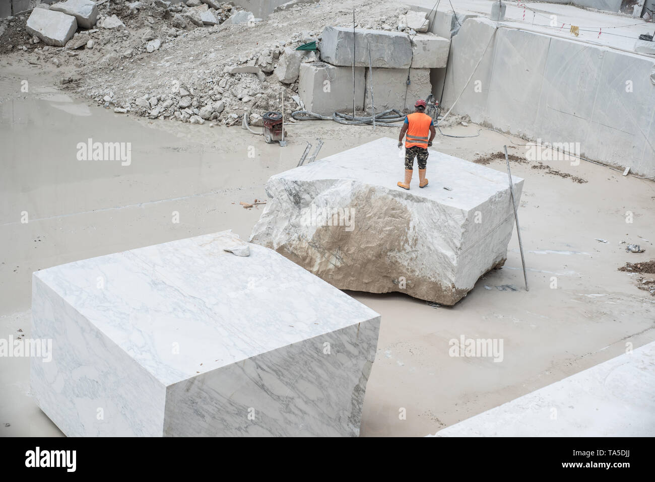 In the quarry - Stock Image