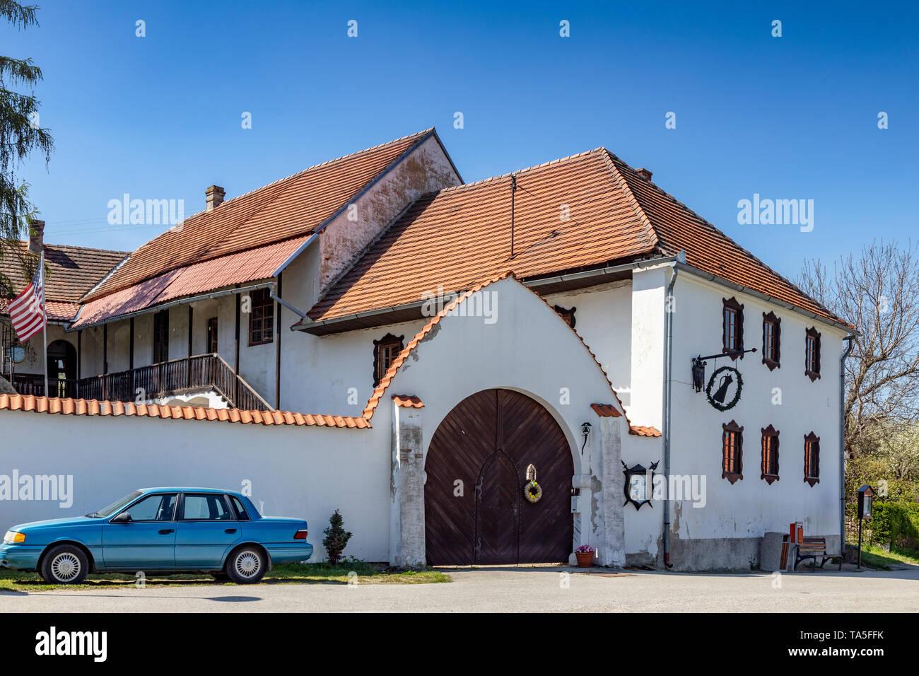 tvrz, vesnice Dobšice u Holašovic, Jizni Cechy, Ceska republika / manor, Dobsice village near Holasovice, South Bohemia, Czech republic - Stock Image