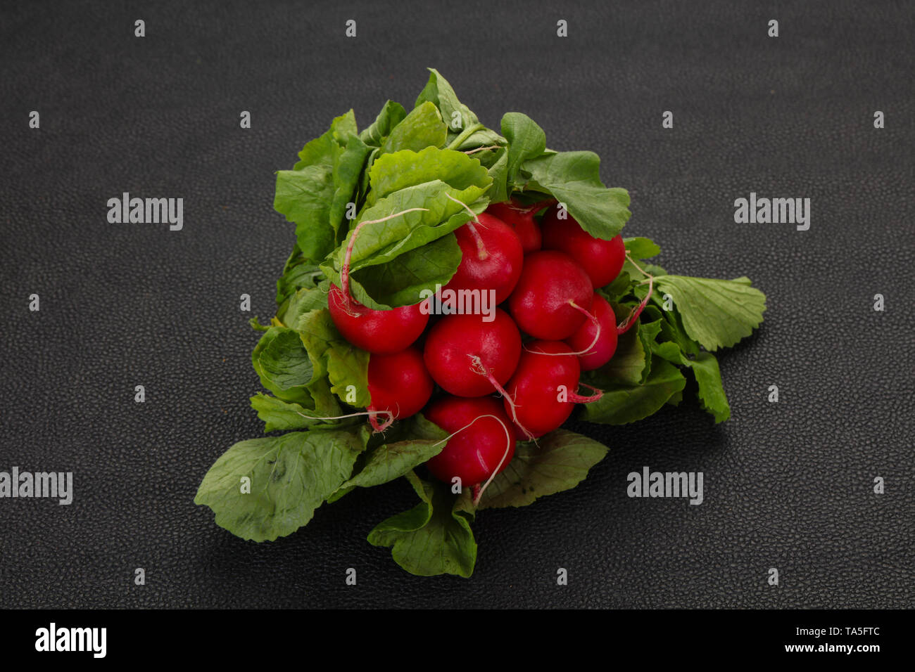 Ripe Radish heap ready for cooking - Stock Image