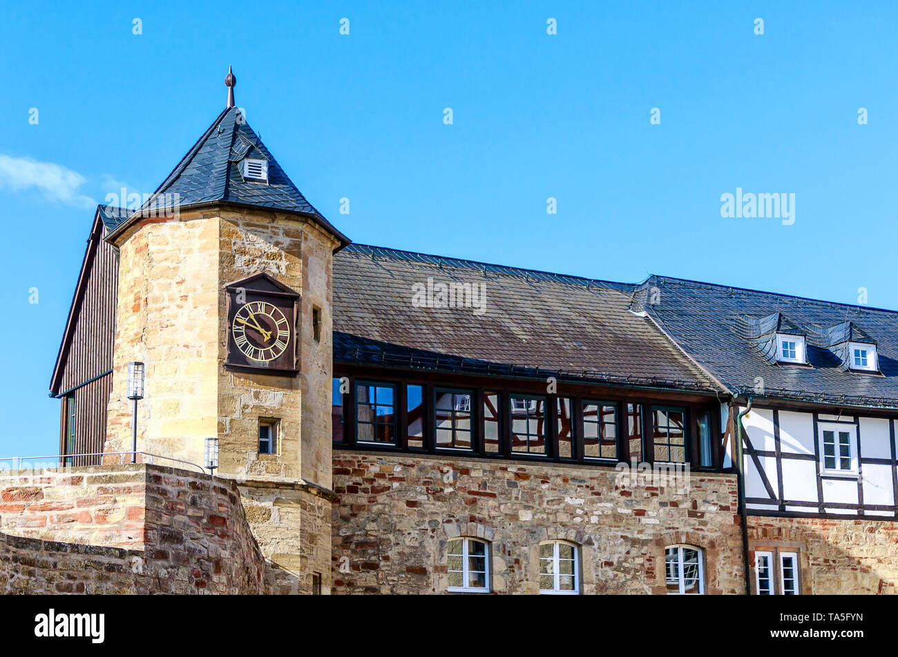The Fortress Waldeck, high above the Edersee in Hesse, Germany - Stock Image