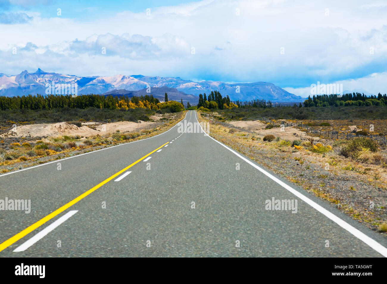 Picturesque views of Lago Buenos Aires on sunny summer day. Patagonia, Argentina, South America - Stock Image
