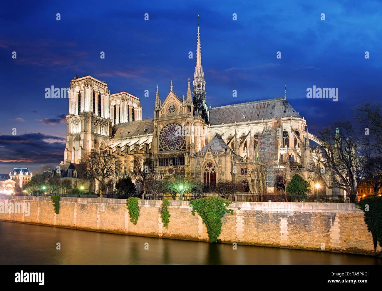 Paris - Notre Dame - Stock Image