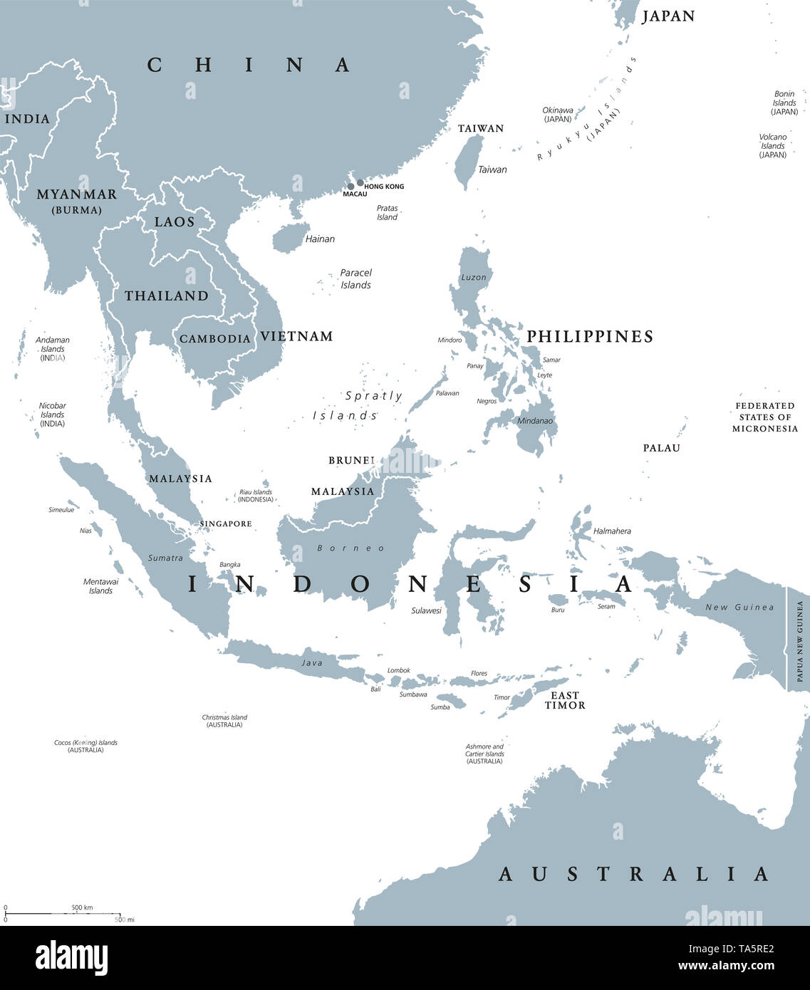 Map Of East Asia Countries.Map Southeast Asia Stock Photos Map Southeast Asia Stock Images