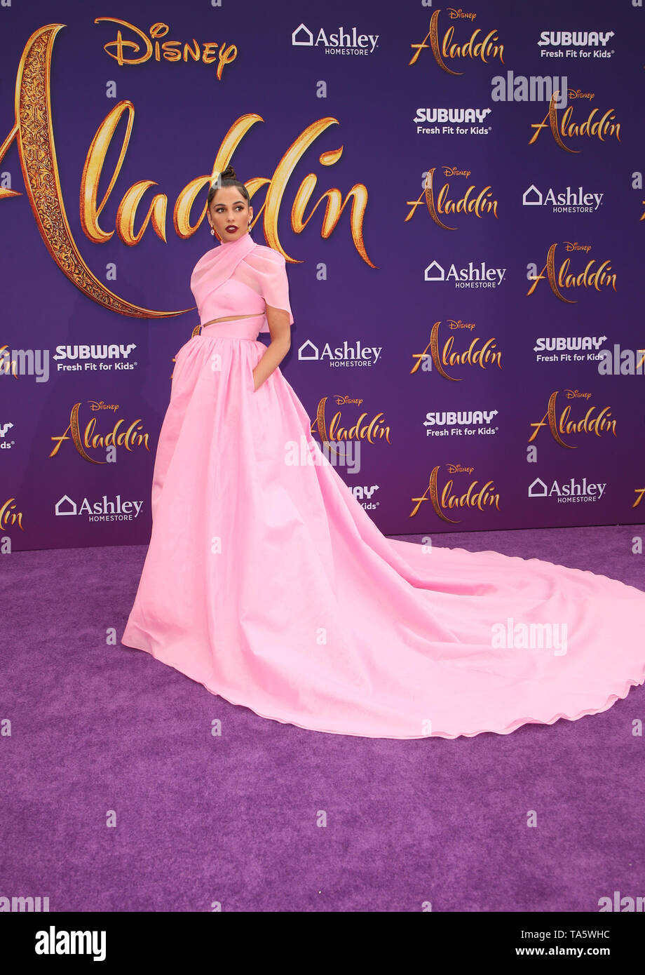 Hollywood, Ca. 21st May, 2019. Naomi Scott, at the World Premiere of Disney's Aladdin at El Capitan theatre on May 21, 2019 in Hollywood., California on May 21, 2019. Credit: Faye Sadou/Media Punch/Alamy Live News - Stock Image
