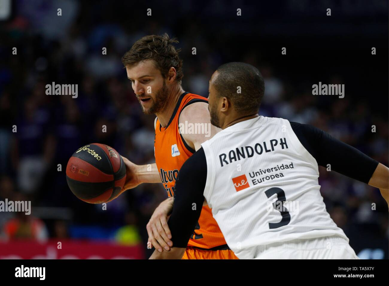 Real Madrid Vs Valencia Basket League Match 21 05 19 Madrid Spain