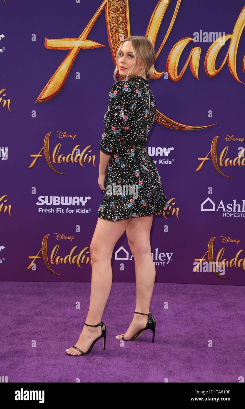 Hollywood, Ca. 21st May, 2019. Natasha Bure, at the World Premiere of Disney's Aladdin at El Capitan theatre on May 21, 2019 in Hollywood., California on May 21, 2019. Credit: Faye Sadou/Media Punch/Alamy Live News - Stock Image