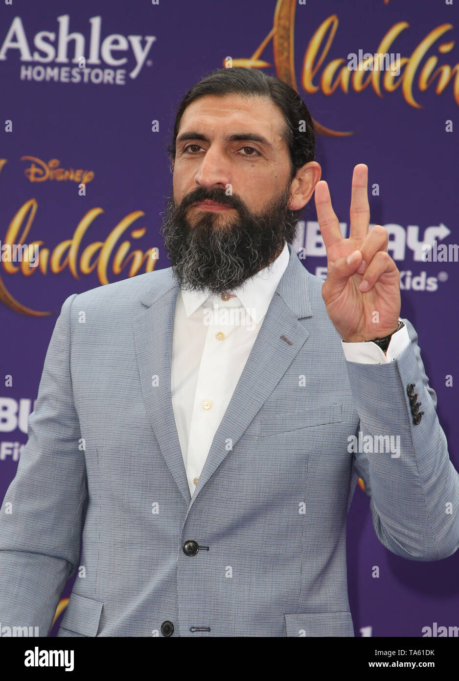 Hollywood, Ca. 21st May, 2019. Numan Acar, at the World Premiere of Disney's Aladdin at El Capitan theatre on May 21, 2019 in Hollywood., California on May 21, 2019. Credit: Faye Sadou/Media Punch/Alamy Live News - Stock Image