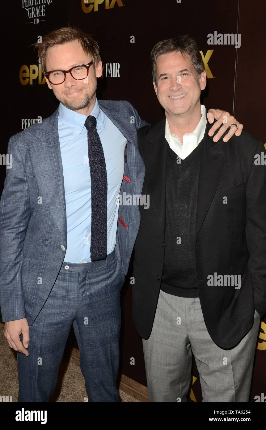 Los Angeles, CA, USA. 21st May, 2019. Jimmi Simpson, Michael Wright at arrivals for PERPETUAL GRACE, LTD Premiere, the Linwood Dunn Theater, Los Angeles, CA May 21, 2019. Credit: Priscilla Grant/Everett Collection/Alamy Live News - Stock Image