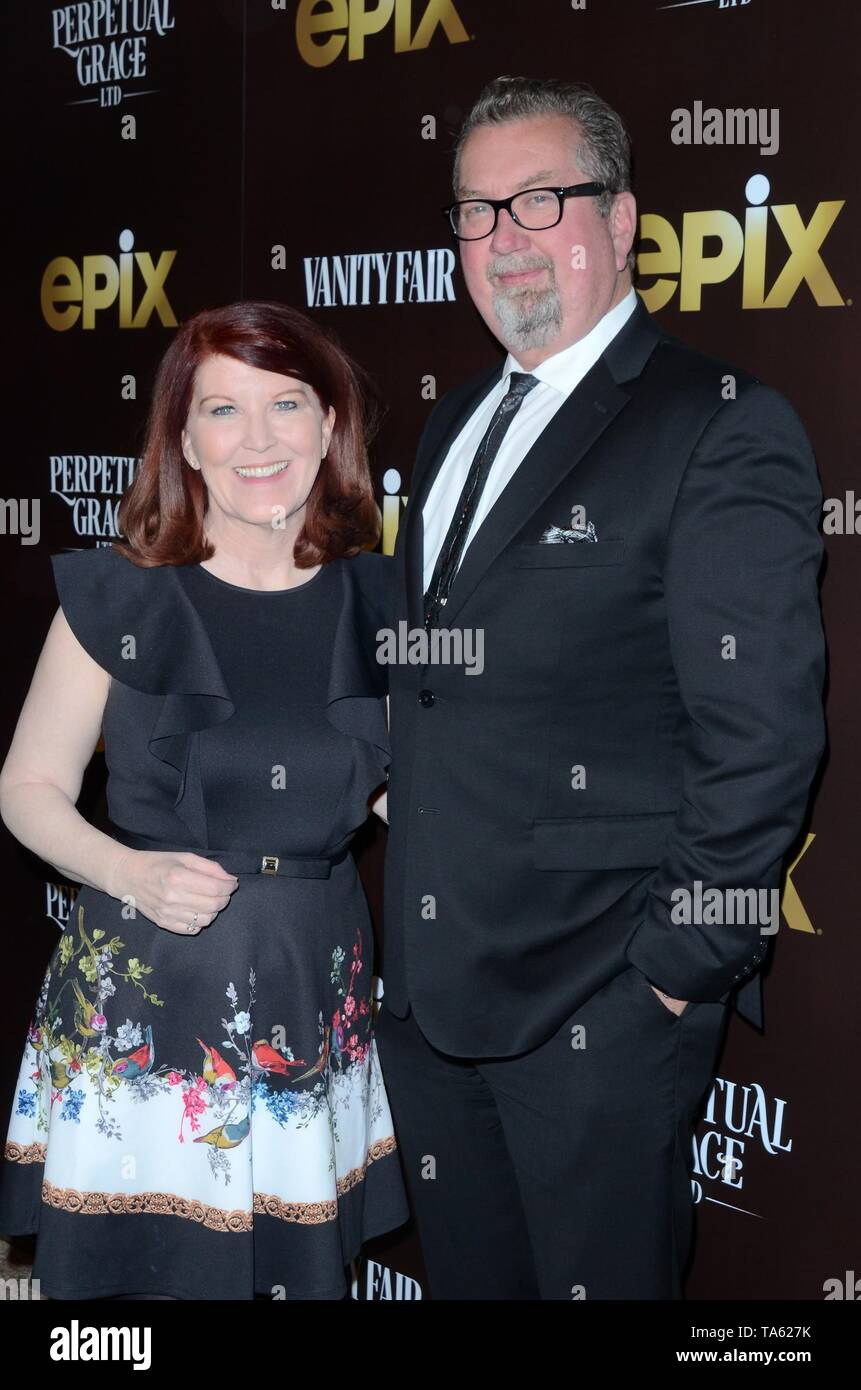 Los Angeles, CA, USA. 21st May, 2019. Kate Flannery, Chris Haston at arrivals for PERPETUAL GRACE, LTD Premiere, the Linwood Dunn Theater, Los Angeles, CA May 21, 2019. Credit: Priscilla Grant/Everett Collection/Alamy Live News - Stock Image